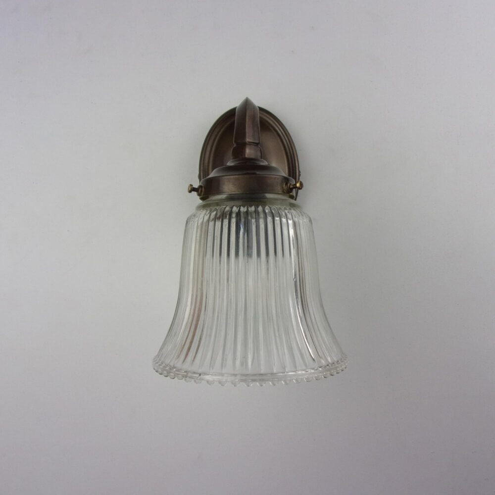 Traditional Brass Wall Light with Prismatic Glass Teardrop Shade Wall Lights