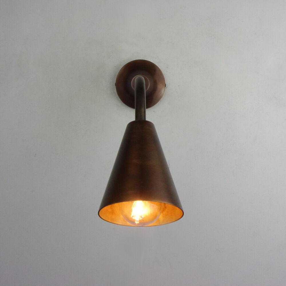 Conical Brass Wall Light Wall Lights