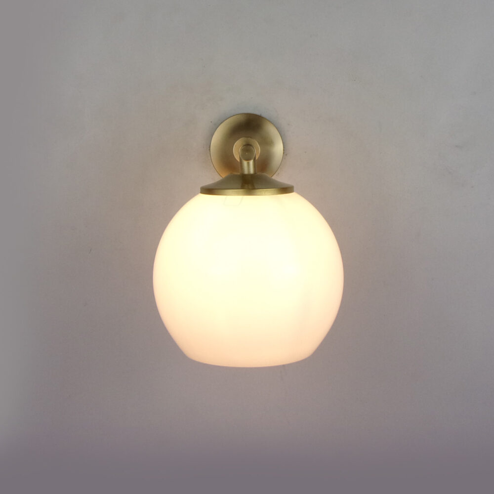 Traditional Brass Wall Light With Glass Wall Lights
