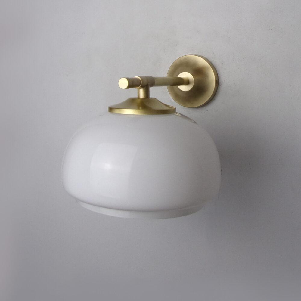 Traditional Brass Wall Light With Teardrop Glass Wall Lights