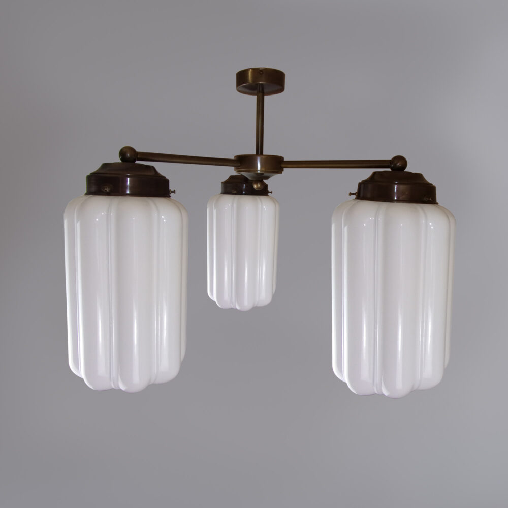 3 Light Chandelier with Clear Glass Ceiling