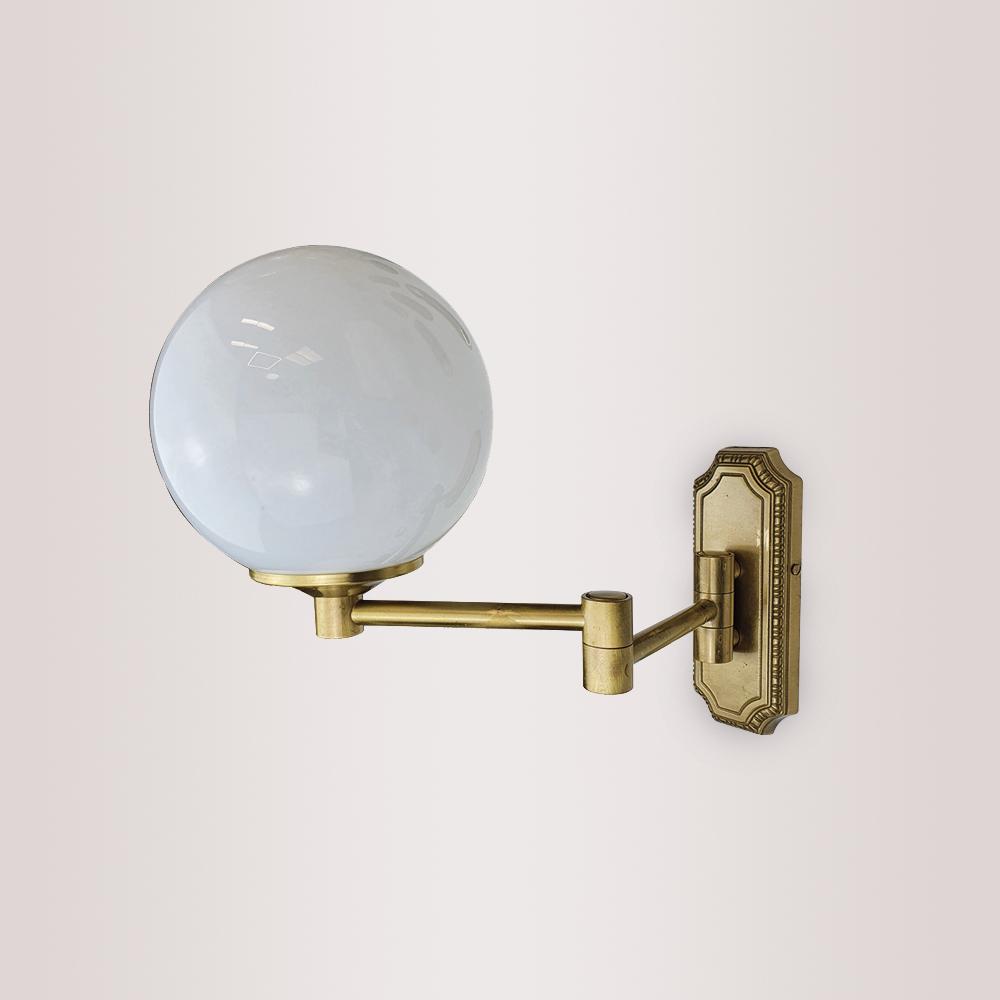 Swing Arm Opal Globe Wall Light Wall Lights
