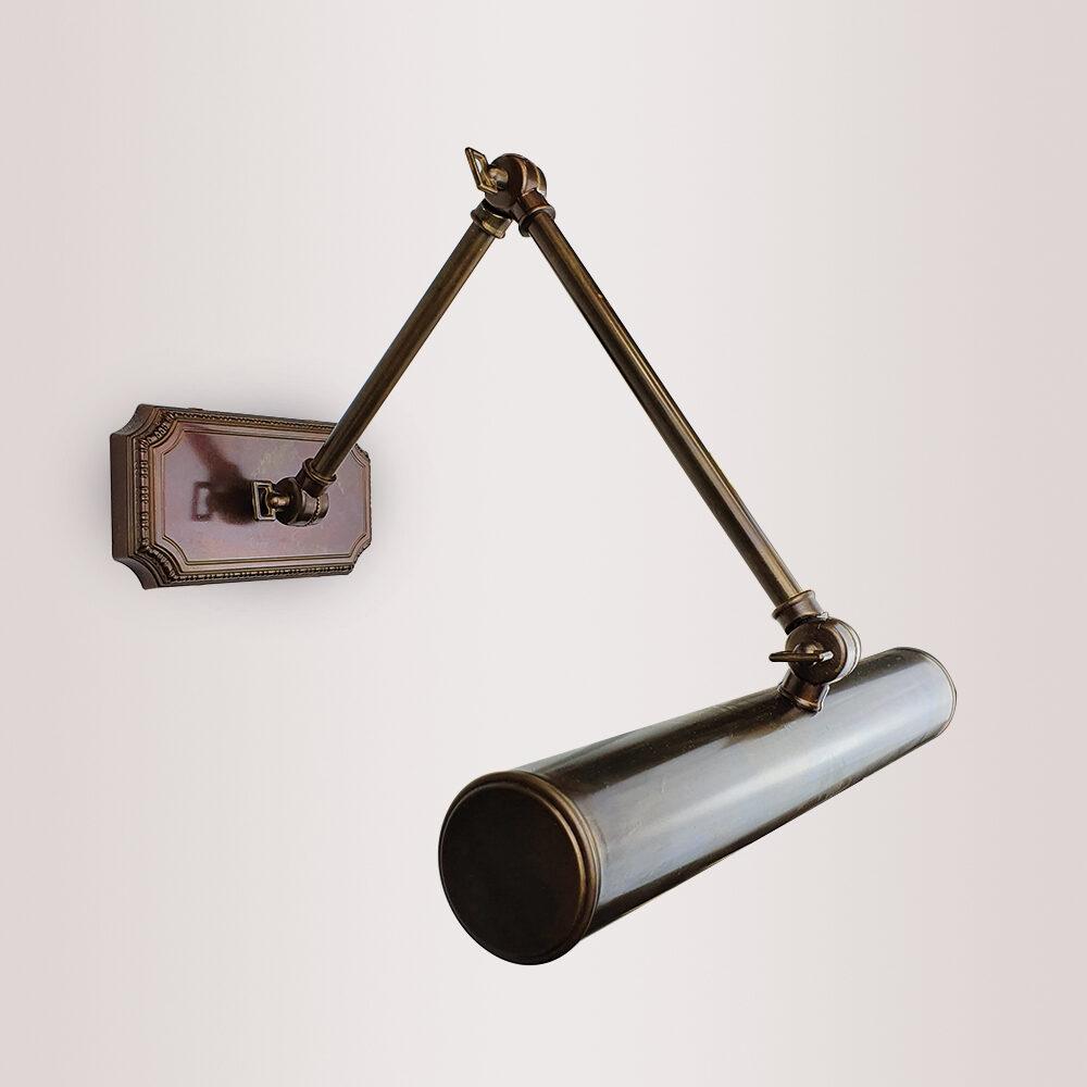 Large Minimal Brass Picture Light Lighting
