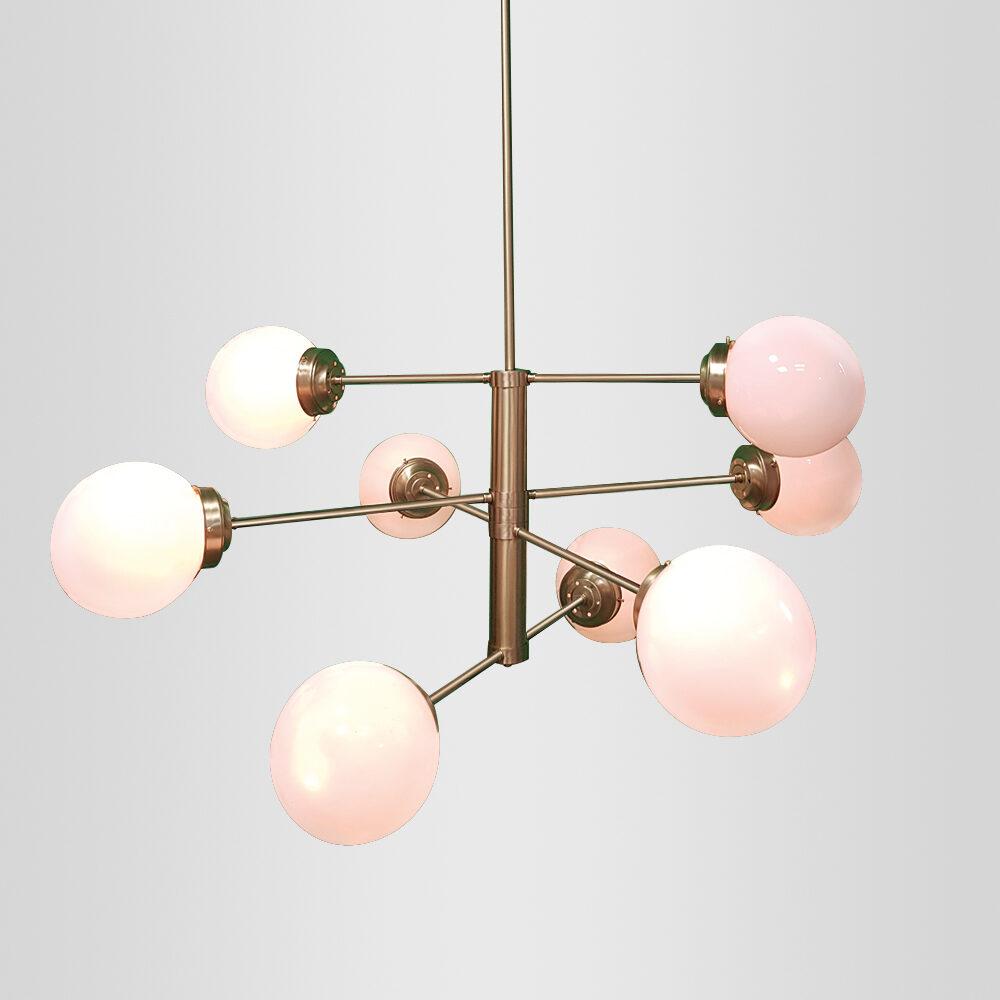 8 Light Sputnik Globe Chandelier Ceiling