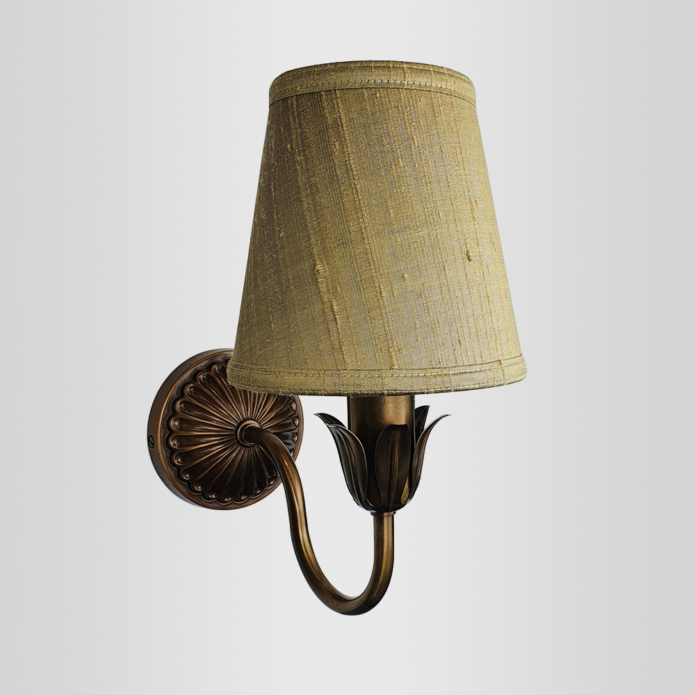 Decorative Floral Brass Wall Light (Frame Only) Wall Lights