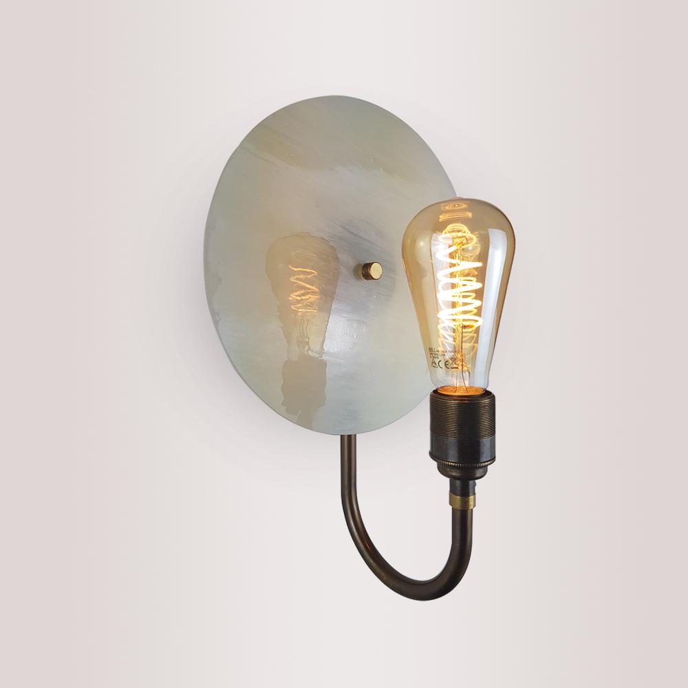 Glass Disc & Brass Wall Light Wall Lights