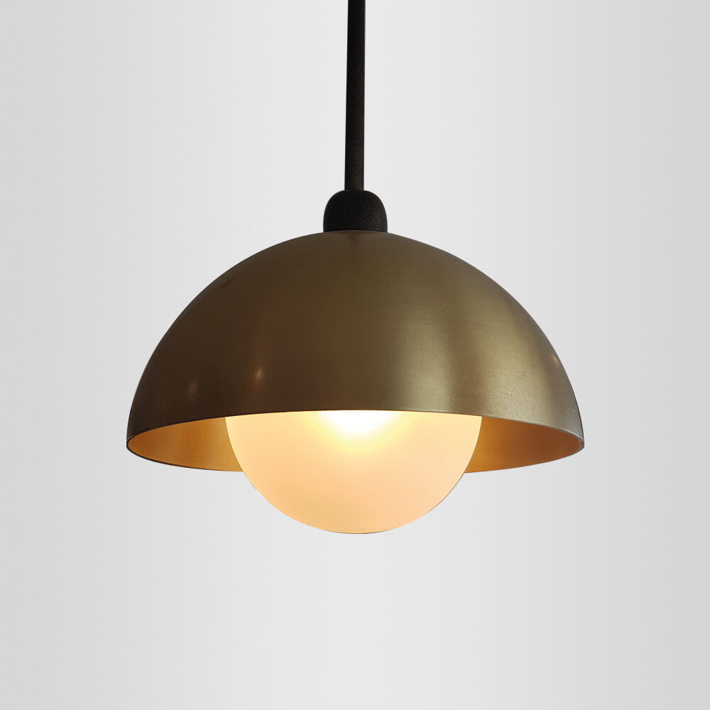 Traditional Brass Wall Light with Exposed Flex Wall Lights