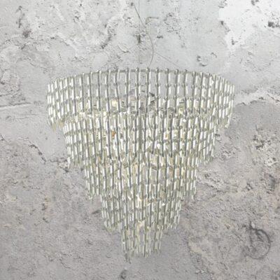 22 Light Aluminium Curls Chandelier