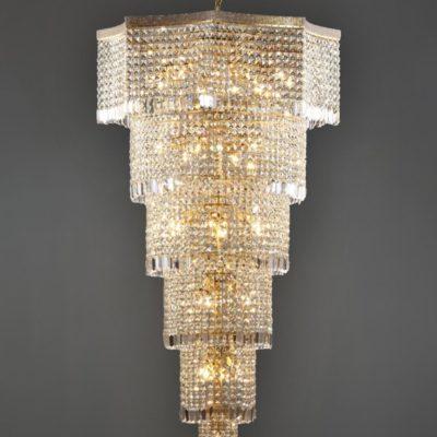 27 Light Bronze Moroccan Crystal Chandelier