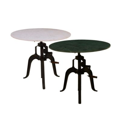 3 Leg Iron Table with Round Marble Base
