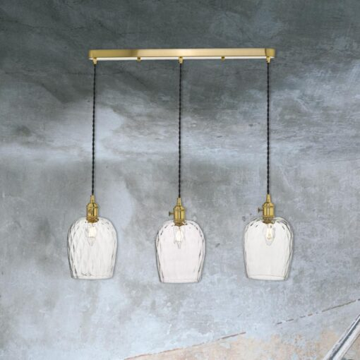 3 Light Antique Brass Pendant