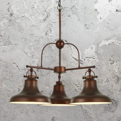 3 Light Antique Bronze Pendant Light