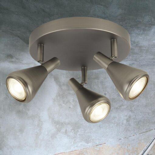 3 Light Antique Silver Spotlights