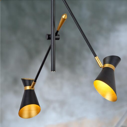 3 Light Black Gold Ceiling Fitting