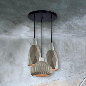 3 Light Concrete Pendant Cluster Lamps