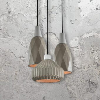 3 Light Concrete Pendant Cluster Lights
