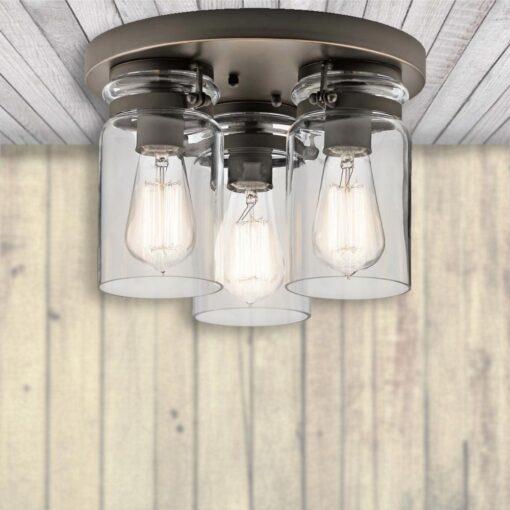 3 Light Glass Flush,glass flush ceiling light