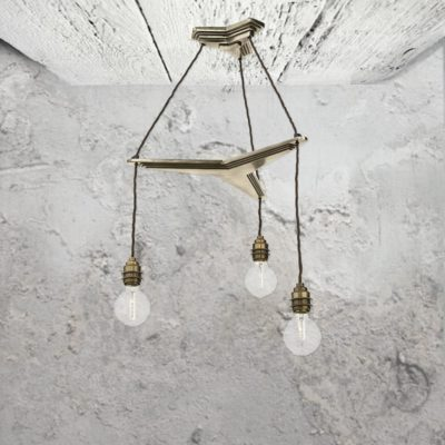 3 Light Industrial Bronze Chandelier