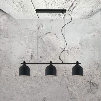 minimal small modern 3 light matte black pendant fitting
