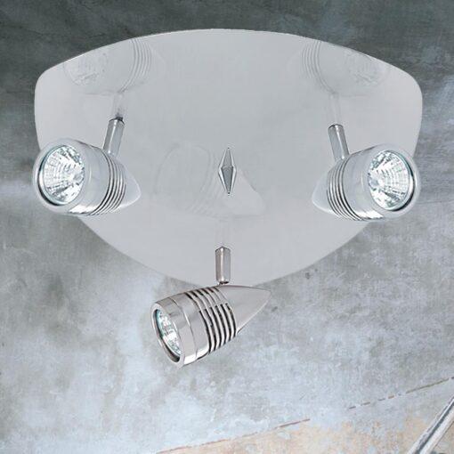 3 Light Silver Triangular Spotlights