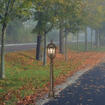 3 Light Traditional Bollard Light Fitting