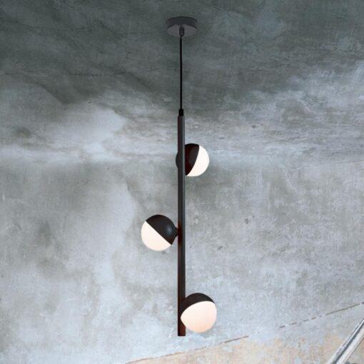 3 Light Vertical Globe Pendant