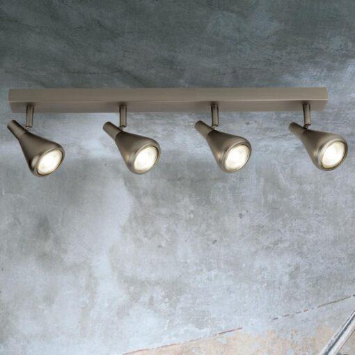 4 Light Antique Silver Spotlight Bar