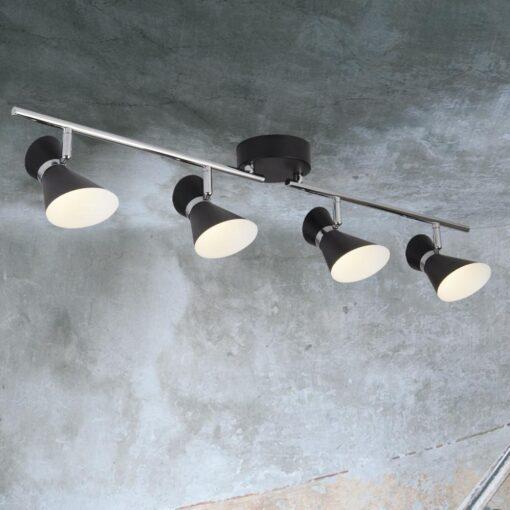 4 Light Black Spotlight Bar
