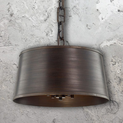4 Light Bronze Industrial Chandelier