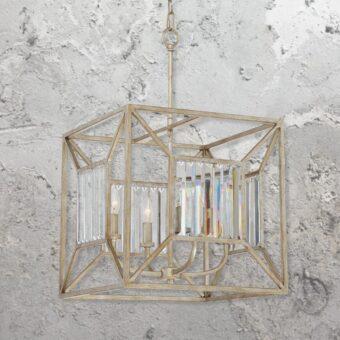 4 Light Crystal Lantern