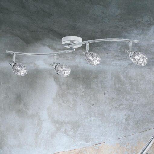 4 Light Curved Mesh Spotlight Bar