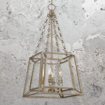 4 Light Gold Lantern