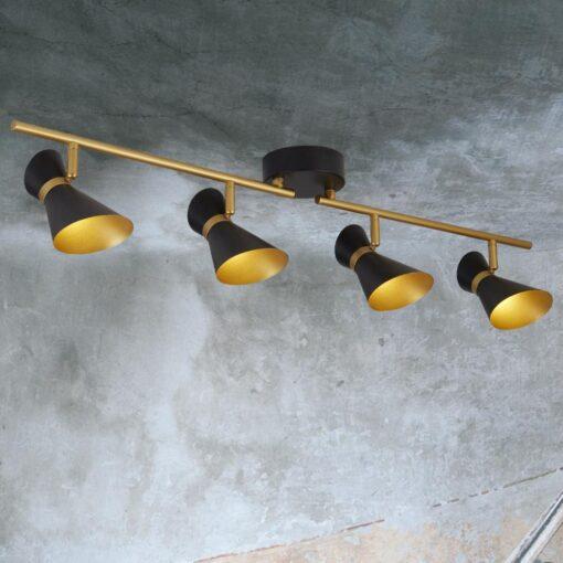 4 Light Gold Spotlight Bar
