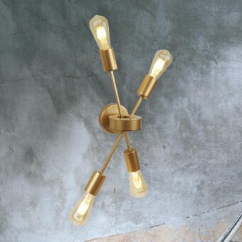 4 Light Gold Wall Light