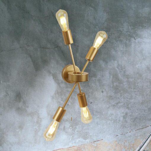 4 Light Gold Wall Light