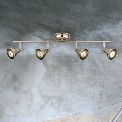 4 Light Polished Nickel Spotlight Bar