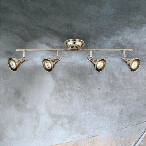 4 Light Polished Nickel Spotlight Bar