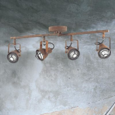4 Light Rustic Track Spotlights