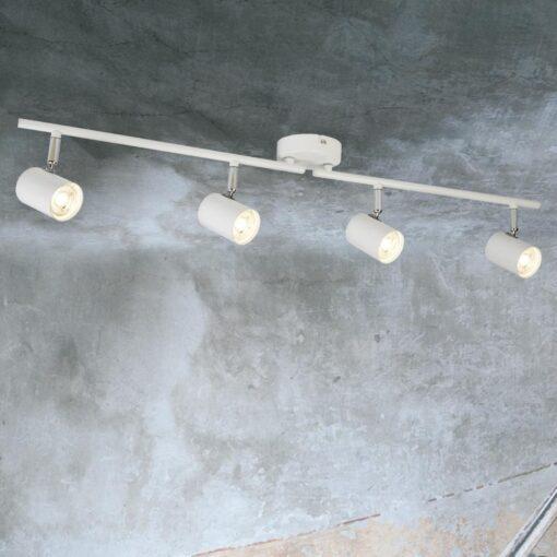 4 Light White Spotlight Bar