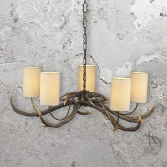 5 Light Antler Chandelier