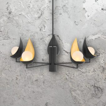 5 Light Black Modern Chandelier