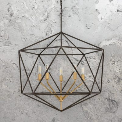 5 Light Geometric Industrial Chandelier