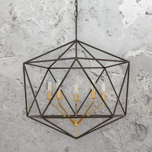5 Light Geometric Industrial Chandelier