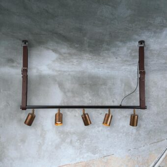 5 Light Spotlight Bar with Leather Straps