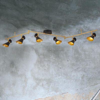 6 Light Gold Spotlight Bar