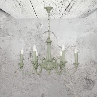 6 Light Grey Chandelier