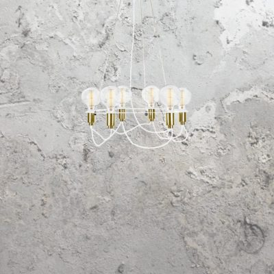 6 Light Minimal Contemporary Chandelier