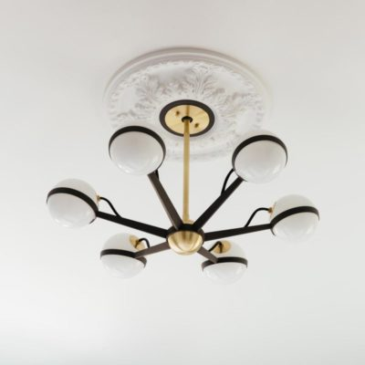 6 Light Modern Globe Arm Chandelier