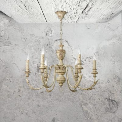 6 Light Rustic French Chandelier
