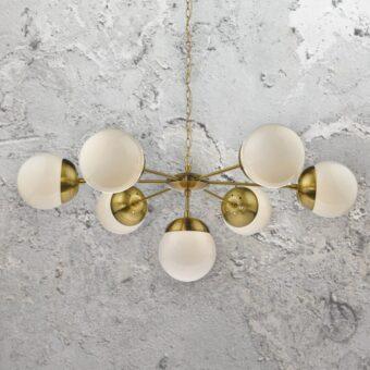 7 Light Brass Chandelier